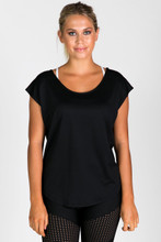 Strappy Back Tee | Running Bare at Fire and Shine | Womens Tops
