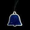 Wedding Bell Ornament - Blue Glass
