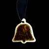 Wedding Bell Ornament - Brown Glass