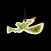 Trumpet Angel Ornament Amber Glass