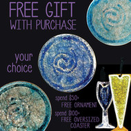 Holiday Ornaments & Free Gifts with Purchase - Shop Online at Recycled Glass Fused Paloma Pottery for Unique Gifts