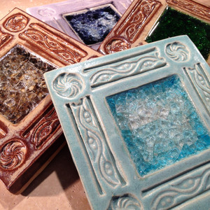 Glass Pottery Paving Stones