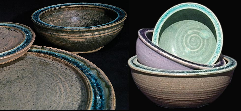recycled glass dinnerware