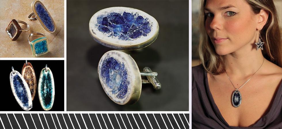 recycled glass jewelry