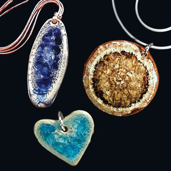 recycled glass necklaces and eco jewelry