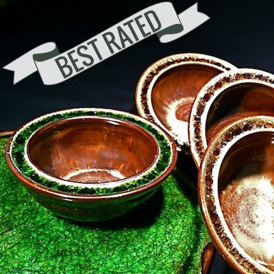 Fused Glass Pottery Bowls