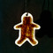 Gingerbread Boy Ornament Cafe Glass