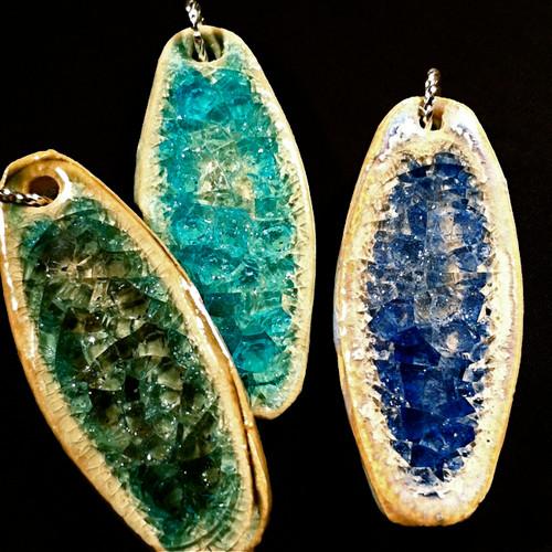 Crackle Glass Pendants