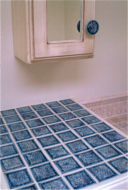 Bathroom Vanity Tiles and Pulls