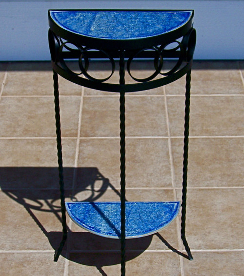 Half moon table wrought iron table for small spaces for 1 2 moon table
