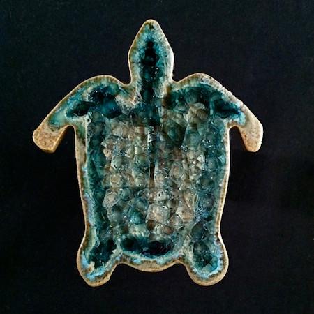 Unique Glass Sea Turtle Magnet