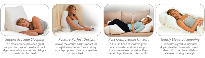Use your Flip Wedge Pillow in multiple positions