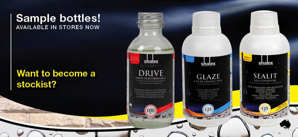 Sample Bottles Drive Glaze Sealit