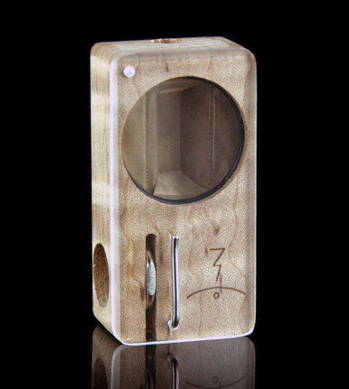 Curly Maple Launch Box - front view -  The world's best portable herbal vaporizer - Magic-Flight