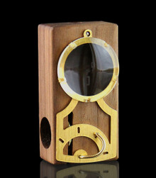 Monocle Edition Launch Box - Walnut hybrid between the Launch Box and Muad-Dib - front view - The world's best portable herbal vaporizer - Magic-Flight
