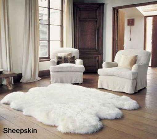 Naturally Shaped Sexto Longwool Sheepskin Rug