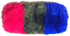 Red, Green, and Blue Alpaca Dye Colors