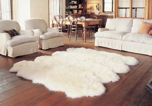 Natural Shaggy Sheepskin Rugs In Ivory And Vivid Colors