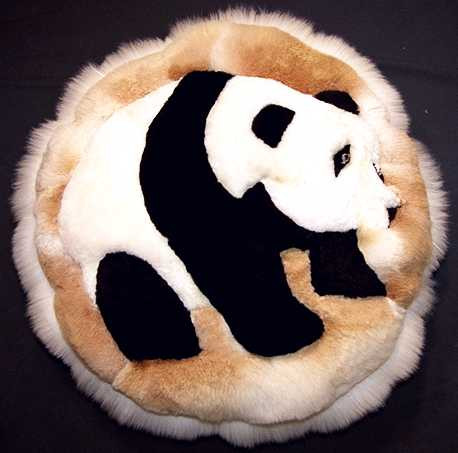 Giant Panda Pattern Round Alpaca Pillow