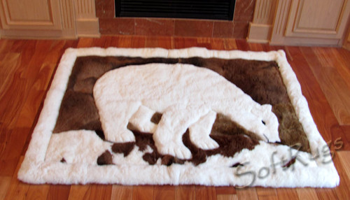 Polar Bear Alpaca Fur Rug