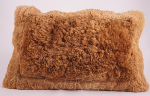 Alpaca Fur Pillow - Brown