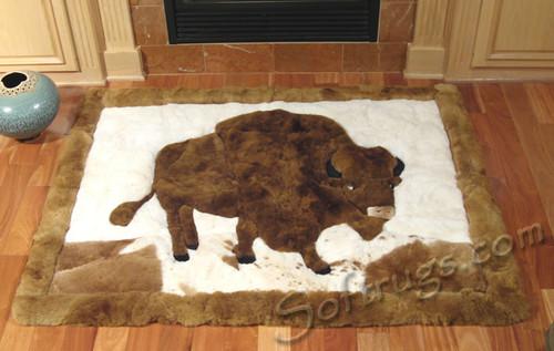 Buffalo Pattern Alpaca Rug