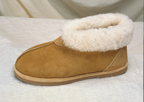 Hard Sole Sheepskin Slippers
