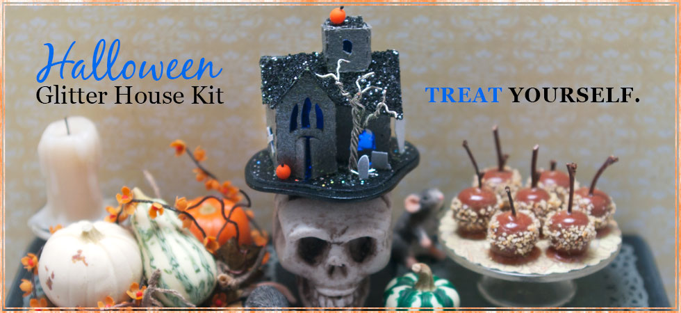 Treat Yourself: Halloween Glitter House Kit