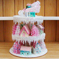 glitter house tiered display