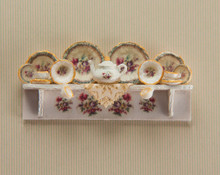 1:48 Scale Floral Decals, Dishes and Tea Set