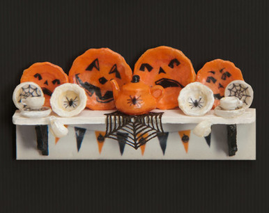 1:48 Scale Halloween Decals, Dishes, Shelf and Doily Kit