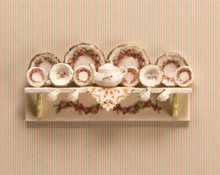 1:48 Scale Holly Decals, Dishes, Shelf and Doily Kit