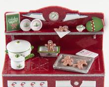 1:48 Vintage Christmas Stove Accessories Kit