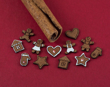 gingerbread boys, gingerbread girls, hearts, stars, houses, mittens