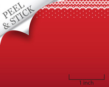 Quarter scale, peel and stick wallpaper - red snowfall by True2Scale