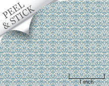 Blue Damask Quarter Scale Wallpaper