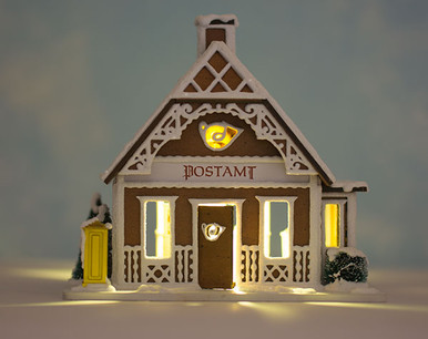 Gingerbread Post Office LED Lighting Kit