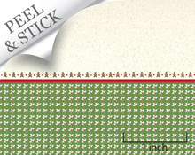 quarter scale christmas peel and stick wallpaper for dollhouse