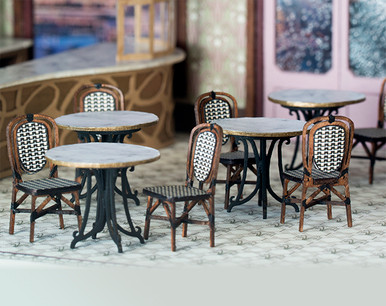 quarter scale cafe tables and chairs