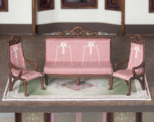 quarter scale bench and chairs for C'est La Vie boutique