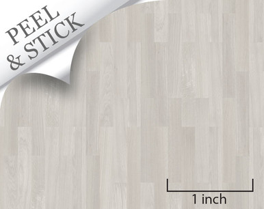 Oak Random Plank Flooring quarter scale