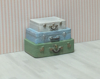 1:48 quarter scale 3d printed stacked suitcases table