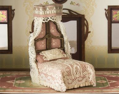 1:48 scale Art Nouveau style bed kit