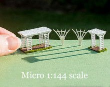 micro 1/144 scale pergola, trellises and arbor kit