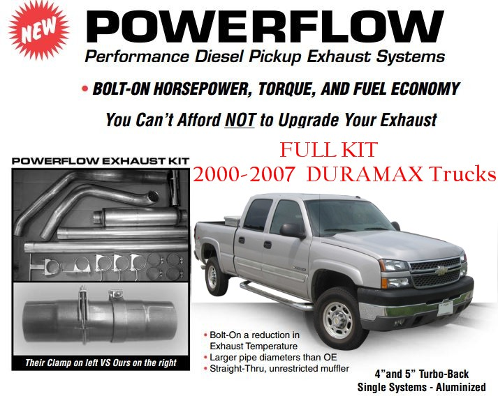 Gm Duramaxx Trucks Powerflow Exhaust Systems on Duramax Cylinder Layout