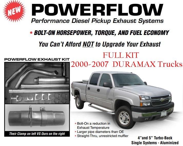Gm Duramaxx Trucks Powerflow Exhaust Systems on 6 Duramax Cylinder Layout