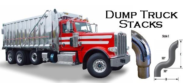 Chrome Stacks For Semi Trucks : Dump truck exhaust stack pipes truckpipesusa