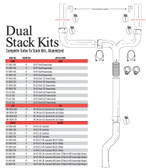 2000-2004 GM 6.6L Duramax 6 inch Dual Stack Kit