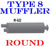 Type 8 Muffler Dual In-Single Out Flanged for Bluebird Chevrolet-GMC