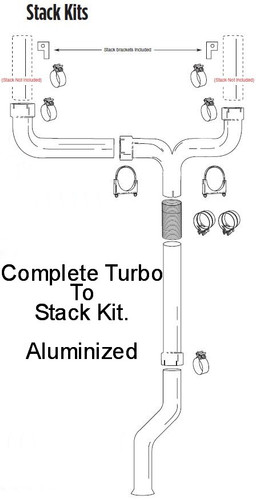 """1999-2002 Ford 7.3L Powerstroke 5"""" Dual Stack Kit"""